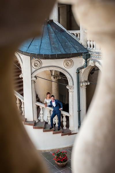 Baranów sandomierski - dziedziniec - widok z pierwszego piętra
