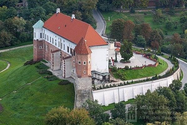 Zamek Królewski w Sandomierzu z lotu ptaka