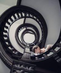 Spiral staircase, Ogrodowa street, Poznań.