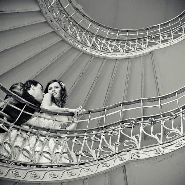 Kręcone schody – widok z parteru
