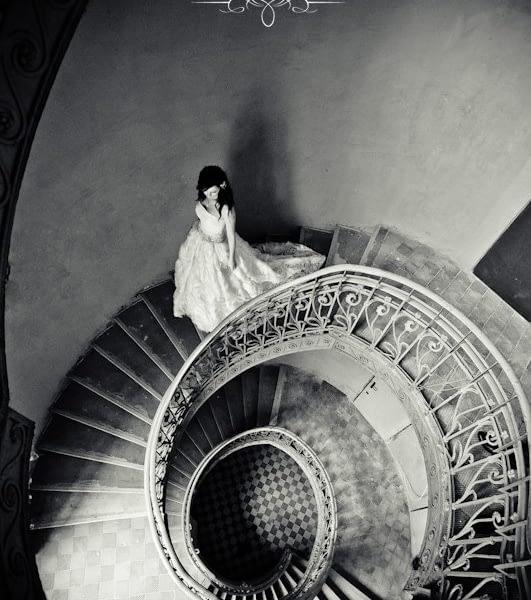 Kręcone schody – widok od góry