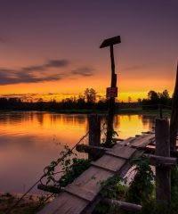 Trzy Morgi – most nad rzeką Pilicą